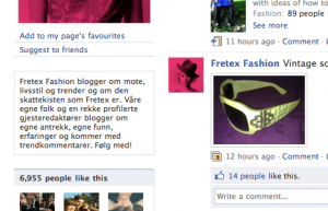 Fra Facebooksiden til Fretex Fashion