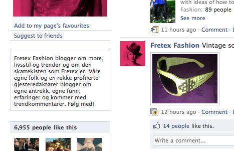 Fra Facebooksiden til Fretex Fashion