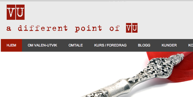 Utsnitt fra firmabloggen til Astrid Valen-Utvik