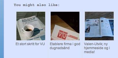 Flere poster å velge mellom på Valen-Utviks blogg.
