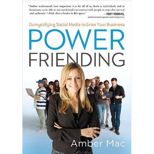 "Amber Macs bok ""Power Friending""."
